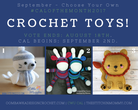 September Vote Post - CWU Choose Your Own CAL Adventure #CALoftheMonth2017   www.thestitchinmommy.com