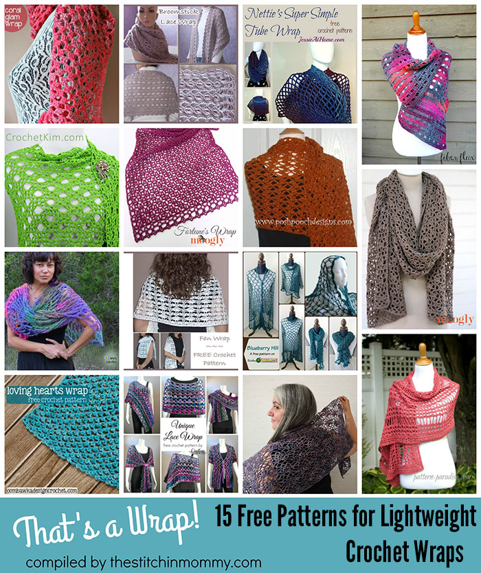 Thats A Wrap 15 Free Patterns For Lightweight Crochet Wraps