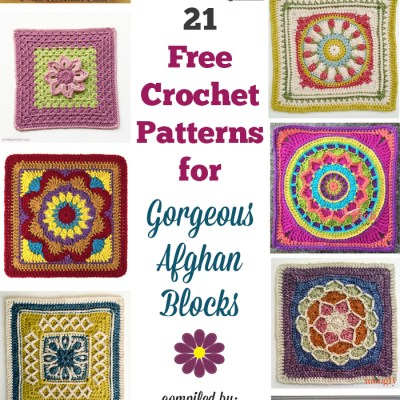 21 Free Crochet Patterns for Gorgeous Afghan Blocks