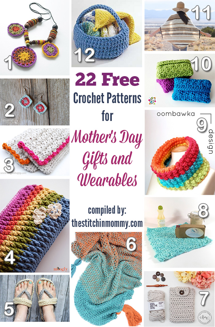 22 Free Crochet Patterns for Mother\'s Day Gifts And Wearables - The ...