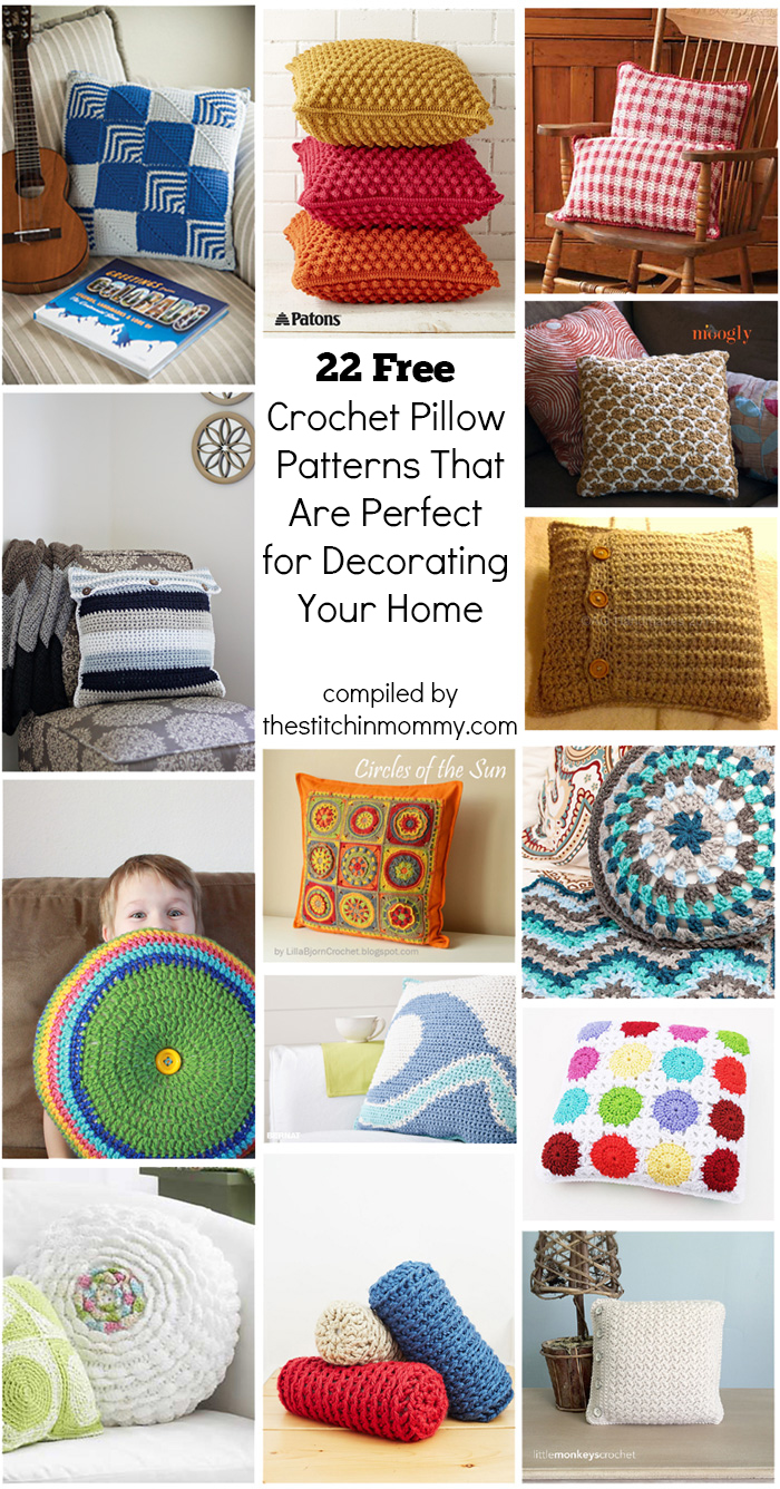 22 free crochet pillow patterns that are perfect for decorating your 22 free crochet pillow patterns that are perfect for decorating your home compiled by the stitchin dt1010fo