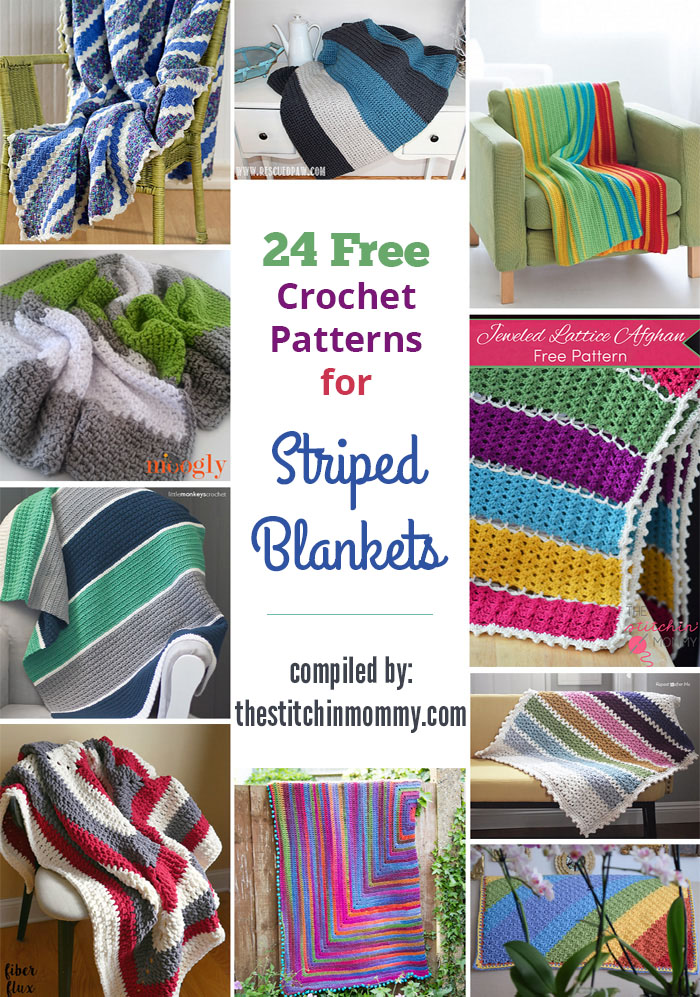 24 Free Crochet Patterns For Striped Blankets The Stitchin Mommy