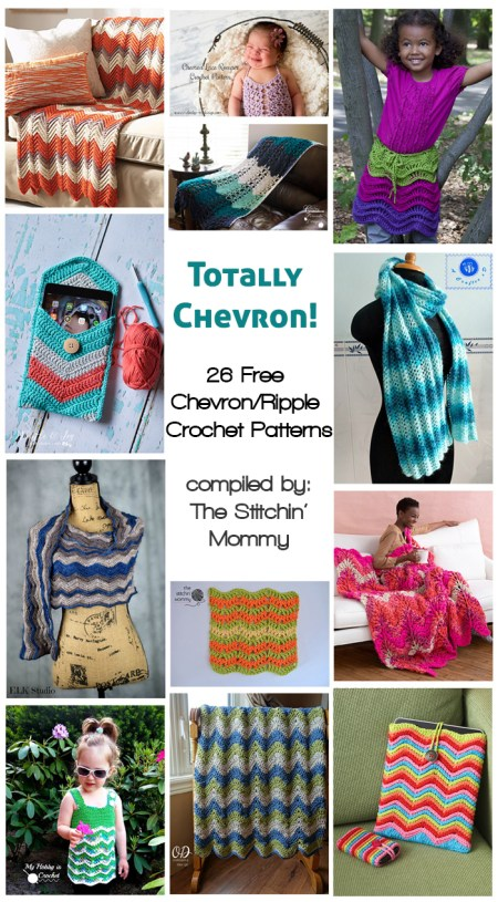26 Free Chevron-Ripple Crochet Patterns