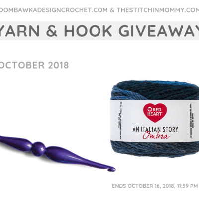 Monthly Yarn and Hook Giveaway – October 2018 featuring Red Heart and Furls