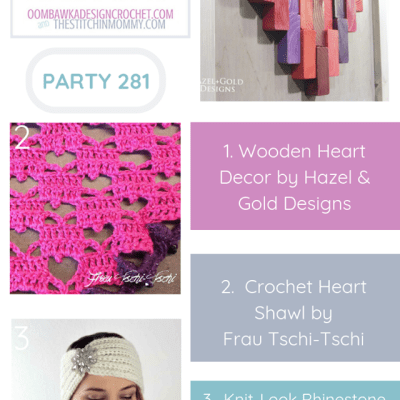 The Wednesday Link Party 281 featuring Wooden Heart Decor