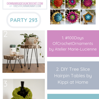 The Wednesday Link Party 293 featuring 100 Days of Crochet Ornaments