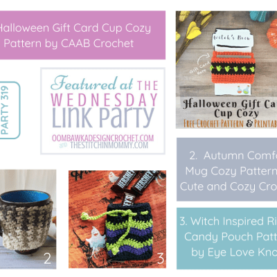 The Wednesday Link Party 319 featuring Halloween Gift Card Cup Cozy