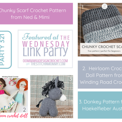 The Wednesday Link Party 321 featuring a Chunky Scarf Crochet Pattern