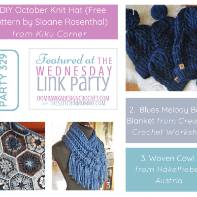 The Wednesday Link Party 329 featuring DIY October Knit Hat