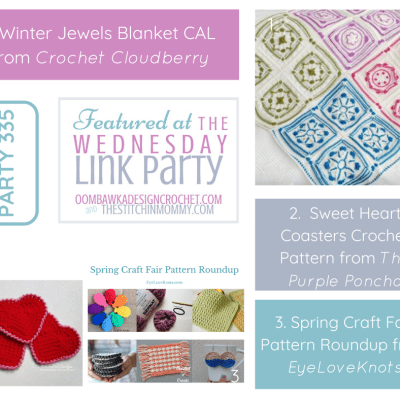The Wednesday Link Party 335 featuring Winter Jewels Blanket CAL