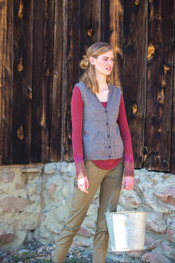 Wheat Creek Vest - Rugged Knits by Andrea Rangel