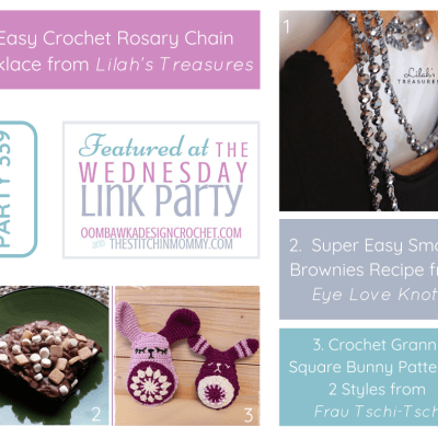 The Wednesday Link Party 339 featuring Easy Crochet Rosary Chain Necklace