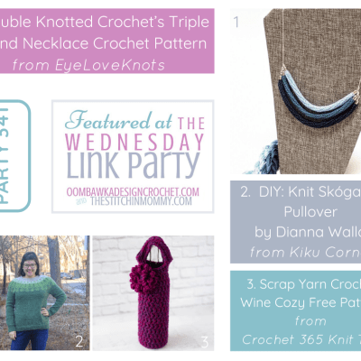 The Wednesday Link Party 341 featuring a Triple Strand Necklace Crochet Pattern