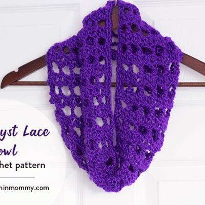 Amethyst Lace Cowl – Free Crochet Pattern