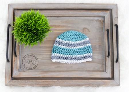 Basic Striped Beanie - Free Crochet Pattern | www.thestitchinmommy.com