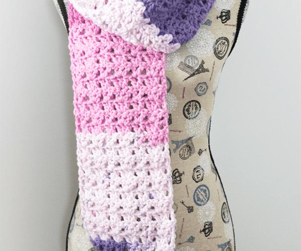 Berry Sorbet Scarf – Free Crochet Pattern