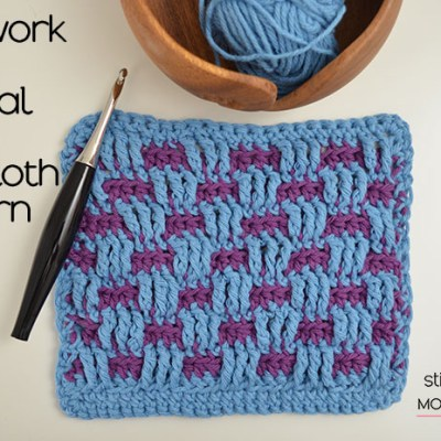Brickwork Stitch Tutorial and Dishcloth Pattern