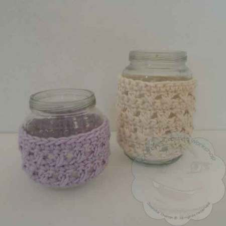 Sweet Jar Cozies - Free Crochet Pattern by Creative Crochet Workshop exclusively for The Stitchin' Mommy | www.thestitchinmommy.com