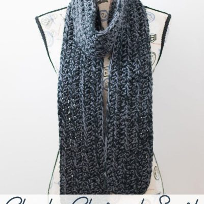 Chunky Charcoal Scarf – Free Crochet Pattern