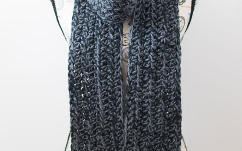 Chunky Charcoal Scarf – Free Crochet Pattern