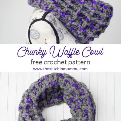 Chunky Waffle Cowl – Free Crochet Pattern
