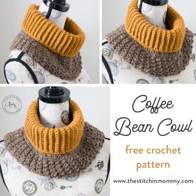 Coffee Bean Cowl – Free Crochet Pattern