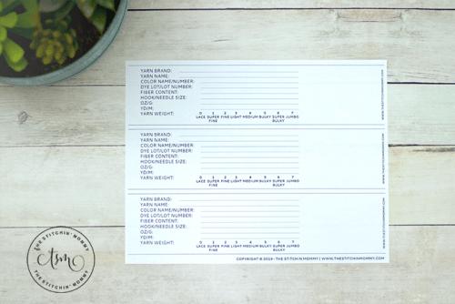 DIY Yarn Labels - Free Printable | www.thestitchinmommy.com