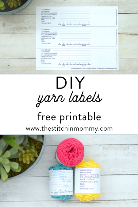 DIY Yarn Labels - Free Printable | www.thestitchinmommy.com
