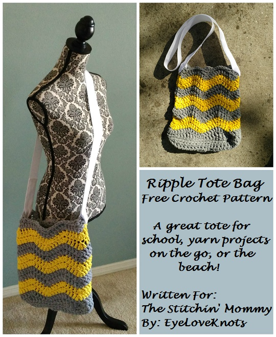 Ripple Tote Bag Free Crochet Pattern The Stitchin Mommy