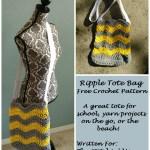Ripple Tote Bag – Free Crochet Pattern