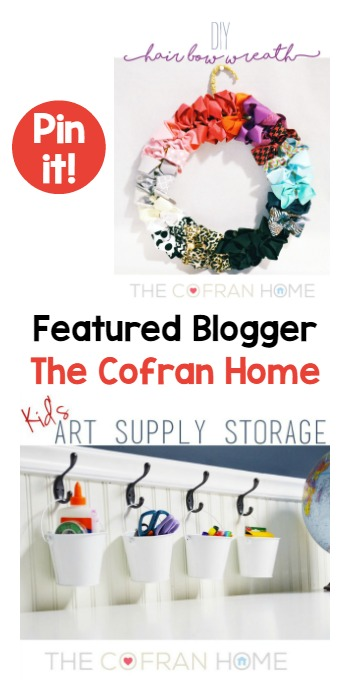 Tuesday PIN-spiration Link Party Featured Blogger - The Cofran Home | www.thestitchinmommy.com