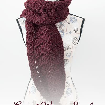 Garnet Waves Scarf – Free Crochet Pattern
