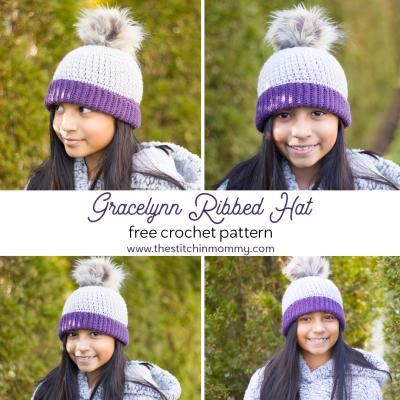 Gracelynn Ribbed Hat – Free Crochet Pattern