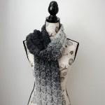 Gray Shells Scarf – Free Crochet Pattern