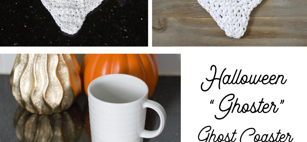 "Halloween ""Ghoster"" Ghost Coaster – Free Crochet Pattern"