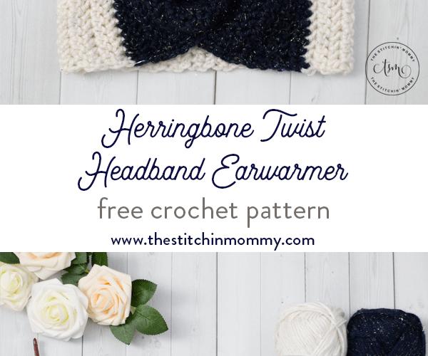 Herringbone Twist Headband Earwarmer – Free Crochet Pattern