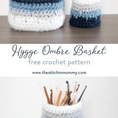Hygge Ombre Basket – Free Crochet Pattern