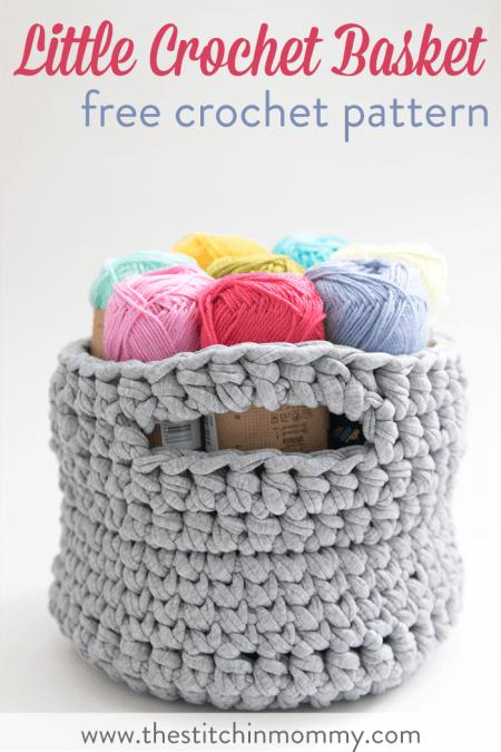Little Crochet Basket - Free Crochet Pattern | www.thestitchinmommy.com