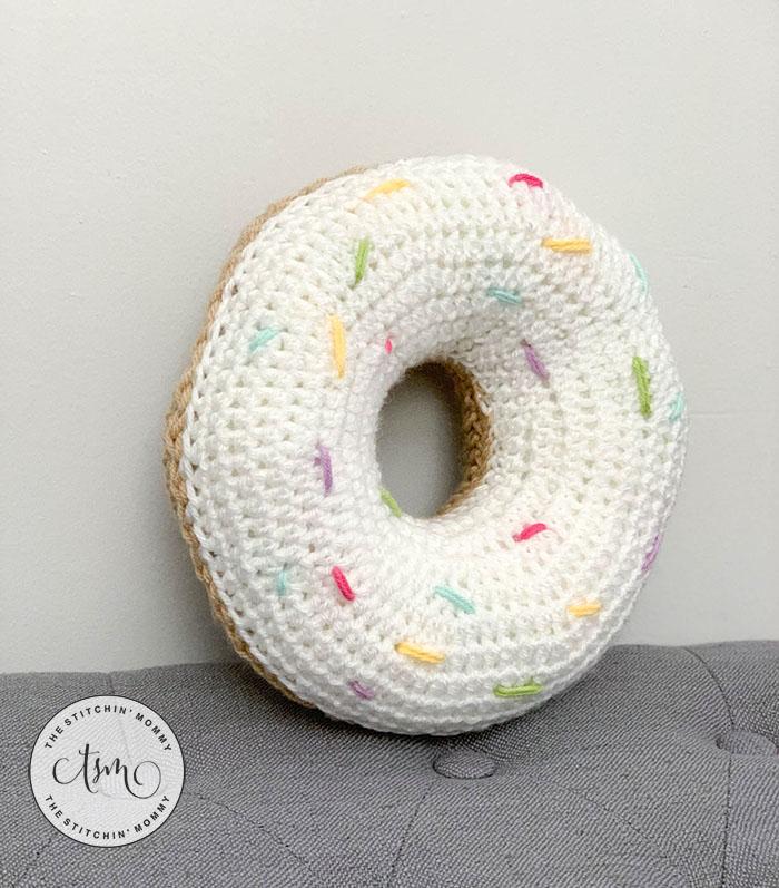 Little Doughnut Pillow Plush - Free Crochet Pattern | www.thestitchinmommy.com #CALCentral