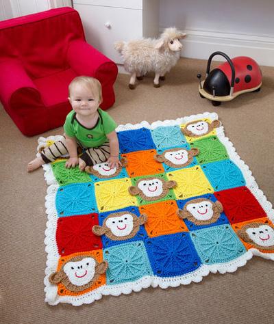Monkey-Around-Baby-Blanket-