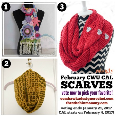 Month 2 February CWU CAL - Scarves | www.thestitchinmommy.com