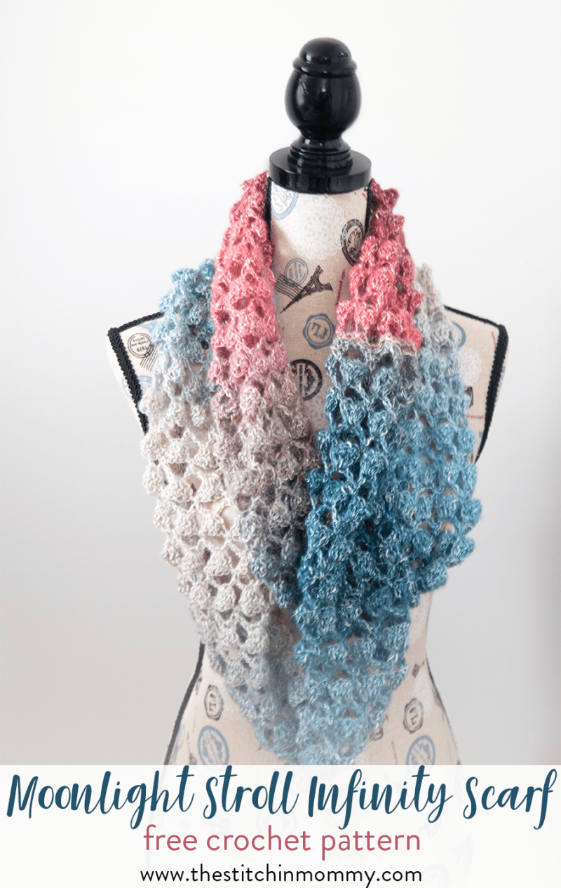 Moonlight stroll infinity scarf free crochet pattern the moonlight stroll infinity scarf free crochet pattern scarf of the month club hosted by bankloansurffo Choice Image