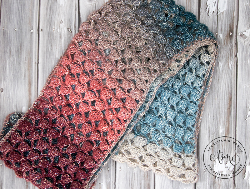 Moonlight Stroll Infinity Scarf Free Crochet Pattern The