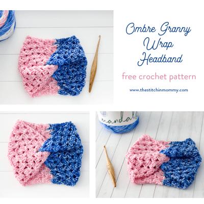 Ombre Granny Wrap Headband – Free Crochet Pattern