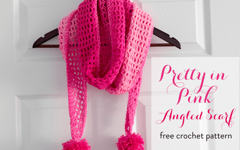 Pretty In Pink Angled Scarf – Free Crochet Pattern