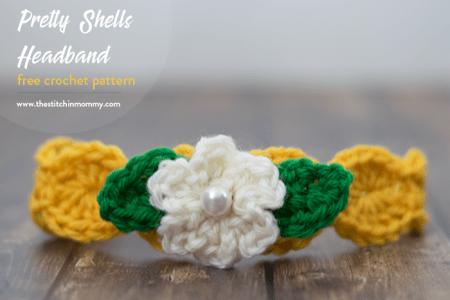 Pretty Shells Headband - Free Crochet Pattern   www.thestitchinmommy.com