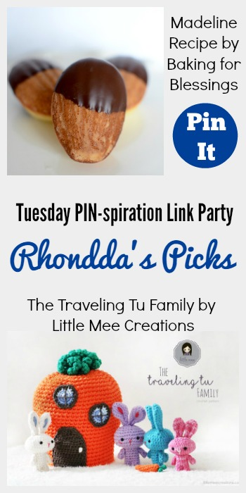 Rhondda's Picks | Madeline Recipe/The Traveling Tu Family | Tuesday PIN-spiration Link Party www.thestitchinmommy.com