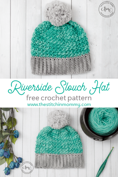 Riverside Slouch Hat - Free Crochet Pattern | www.thestitchinmommy.com