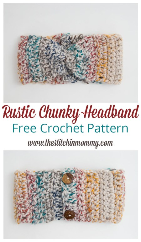 Rustic Chunky Headband - Free Crochet Pattern | www.thestitchinmommy.com