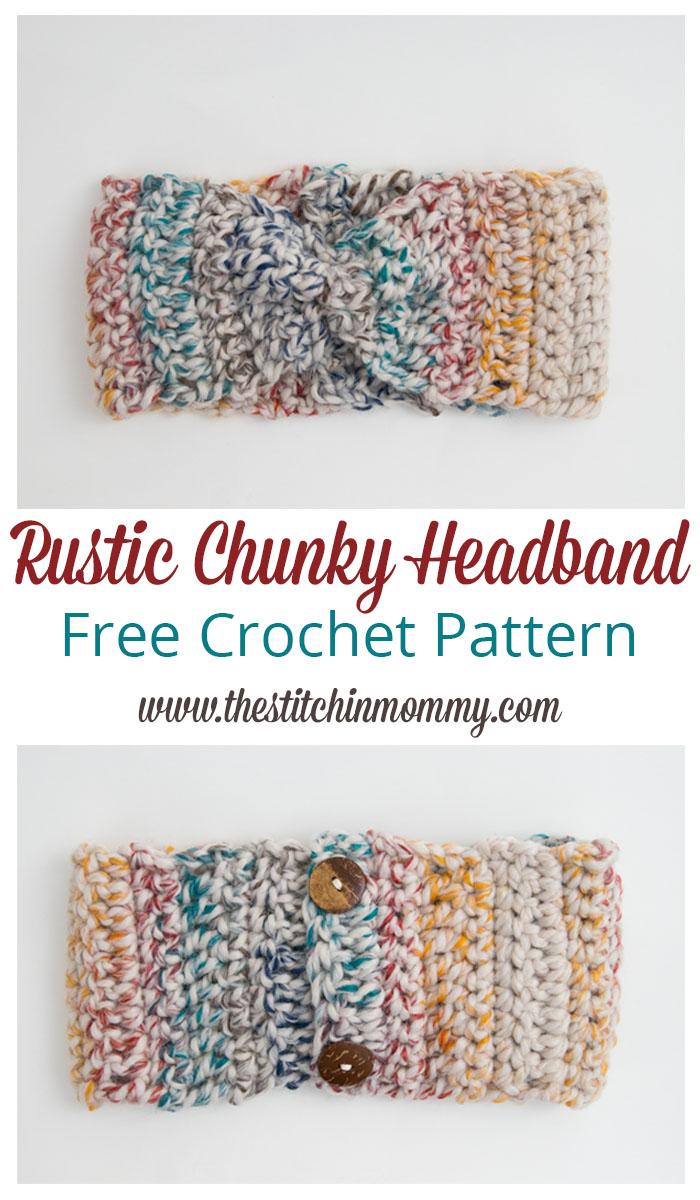Rustic Chunky Headband - Free Crochet Pattern - The Stitchin Mommy